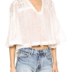 Free People Gauze Peasant Top Size XS